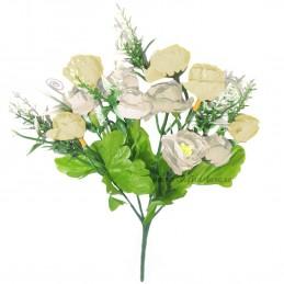 Buchet Mini Trandafirasi Crem, 5 fire 35 cm