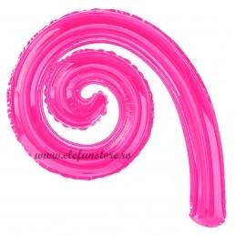 Balon Spirala Cârlionț 40 cm Magenta Metalizat