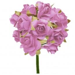 Set 144 trandafiri din hartie roz 1.5 cm