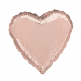 Balon Inima 60 cm Rose Gold Metalizat