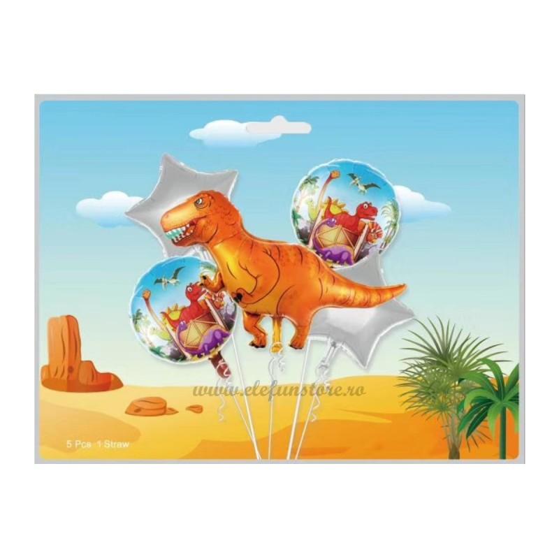 Kit 5 Baloane Dino Party