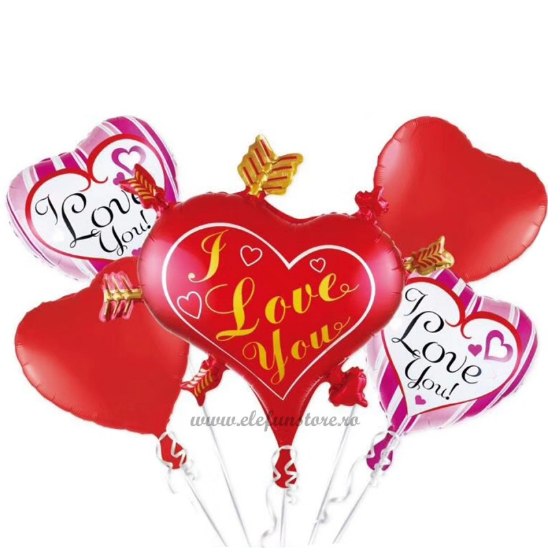 Kit 5 Baloane LOVE
