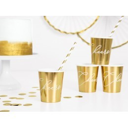 Set 6 pahare Cheers! aurii