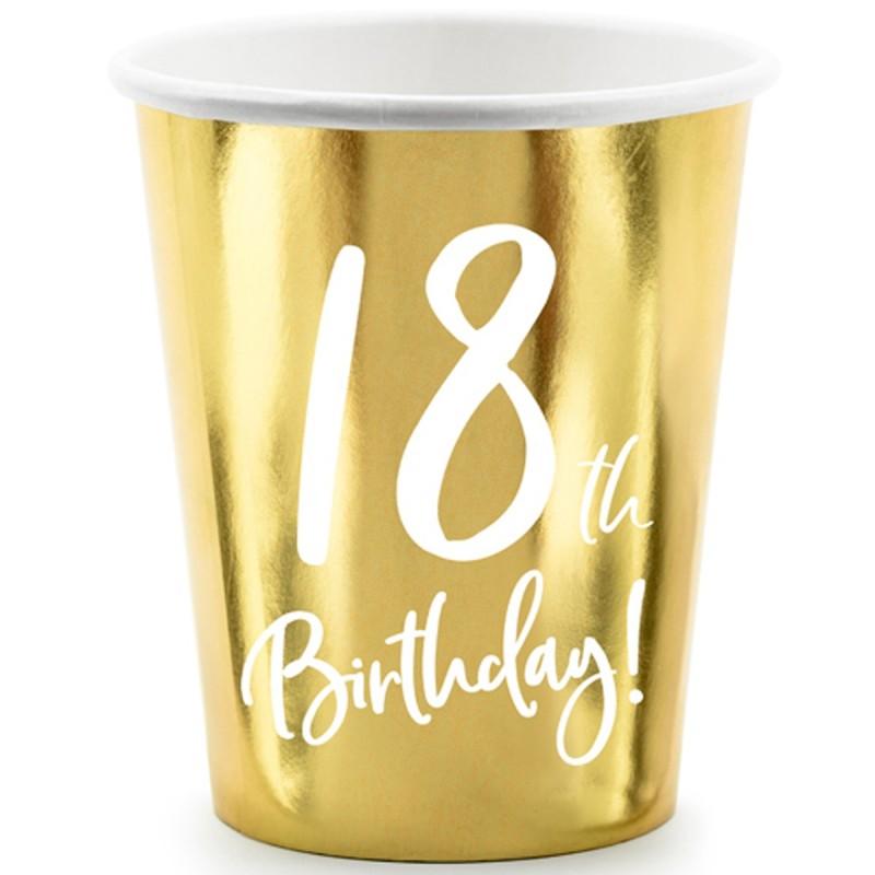 Set 6 pahare Majorat 18th Birthday
