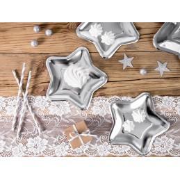 Set 6 farfurii Steluta Argintie 18  cm