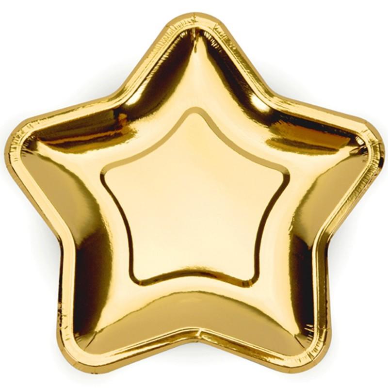 Set 6 farfurii Steluta Aurie 18  cm
