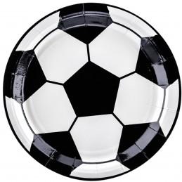 Set 6 farfurii minge de fotbal 18 cm