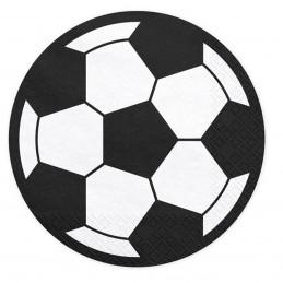 Set 20 servetele minge de fotbal 13.5 cm