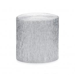 Set 4 role hartie creponata argintie, fasii 10m * 5cm