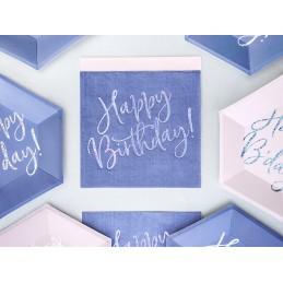 Set 20 servetele mov Happy Birthday Iridiscent