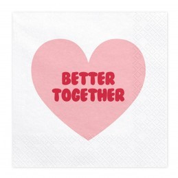 Set 20 servetele Sweet Love - Better Together