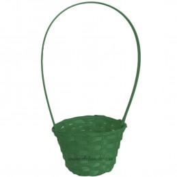 Cosulet din ratan verde D:13cm , H:40cm