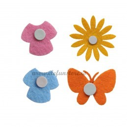 Set 20 Ornamente Fluturasi Adezivi Roz 3.5 cm