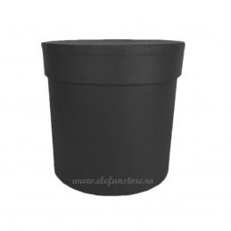 Cutie Rotunda Neagra 12 cm