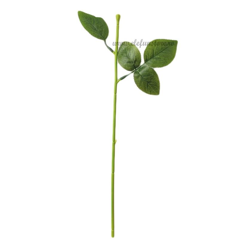 Tija cu frunze pt flori de sapun 33 cm