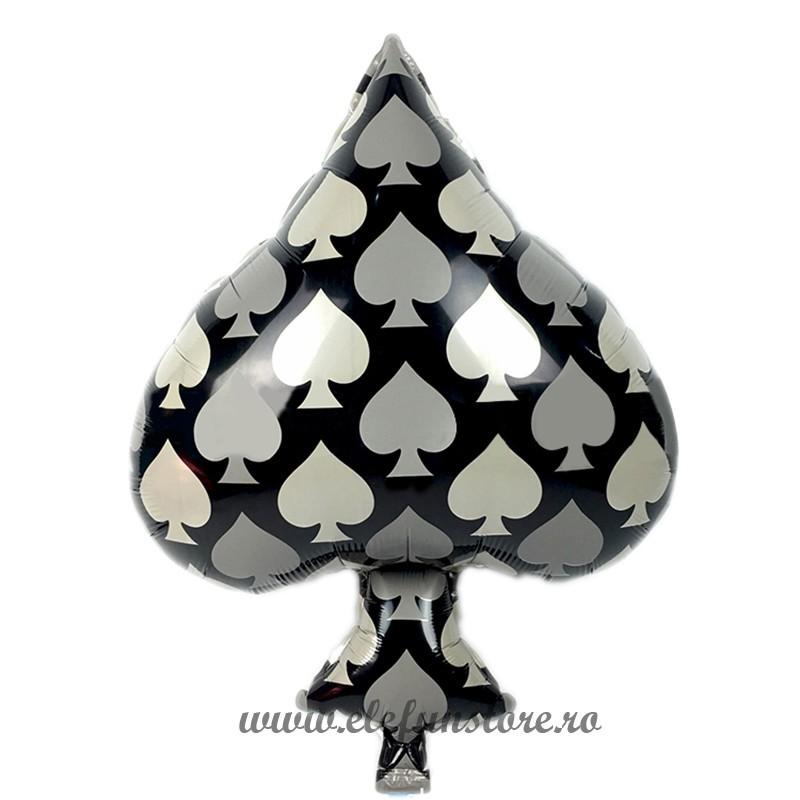 Balon Figurina  Poker Inima Neagra 65 cm