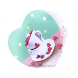Cutie inima aqua LOVE IS YOU 11 cm