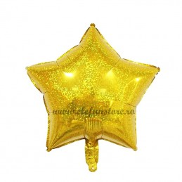 Balon Stea Holograma Aurie
