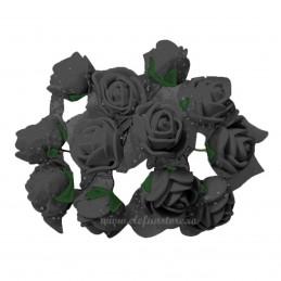 Set 144 trandafiri din spuma negri 2cm