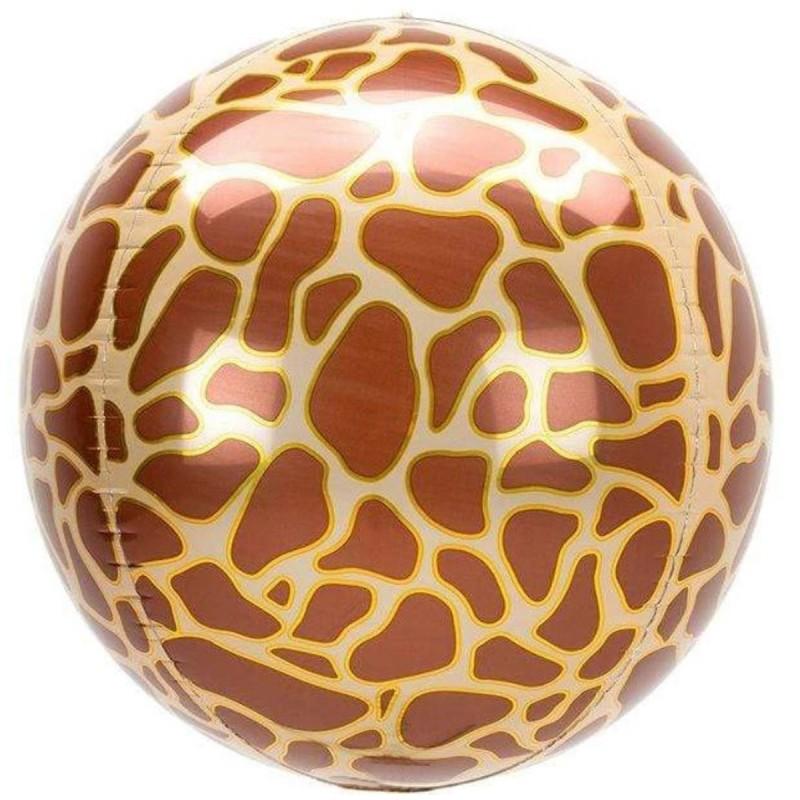 Balon Sfera 3D, model Girafa 60cm