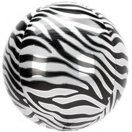 Balon Sfera 3D, model Zebra 60cm