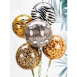 Balon Sfera 3D, model Zebra 60cm