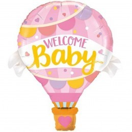 Balon cu aer cald Welcome Baby Girl 70cm