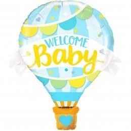 Balon cu aer cald Welcome Baby Boy 70cm