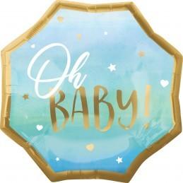 Balon OH BABY ! bleu 55cm