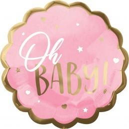 Balon OH BABY ! roz 55cm