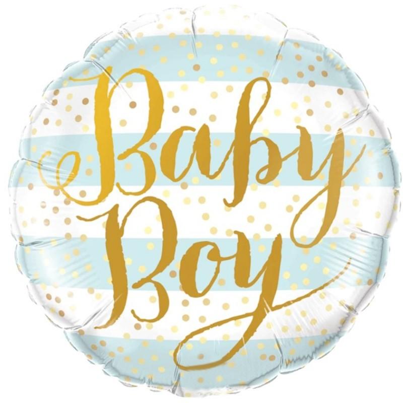 Balon Baby Boy blue stripes