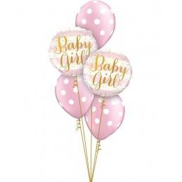 Balon Baby Girl pink stripes