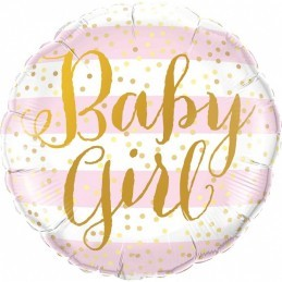Balon Baby Girl pink stripes