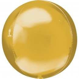 Balon Sfera 3D 60cm Auriu Metalizat