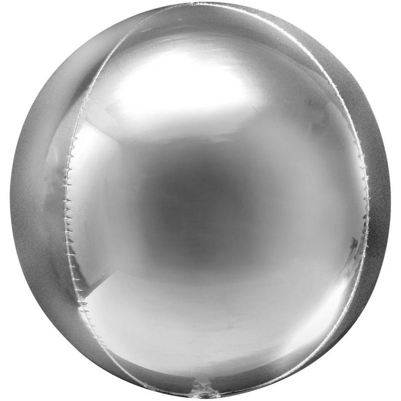 Balon Sfera 3D 60cm Argintiu Metalizat