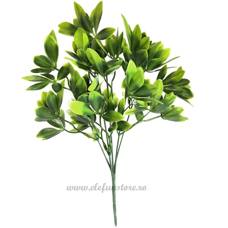 Buchet frunze portocal, 5 fire 35 cm