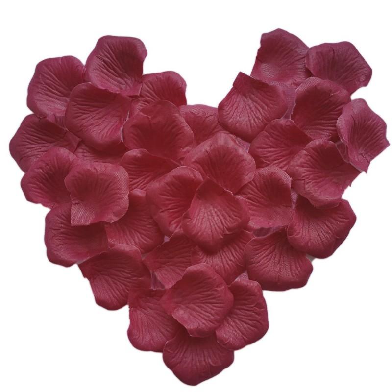 Set 150 petale burgundy de trandafir