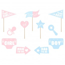 Set 11 Sabloane Foto Props Gender Reveal, Girl or Boy