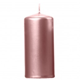 Lumanare cilindrica rose gold 12*6 cm