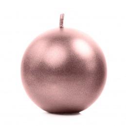 Lumanare sfera rose gold 6 cm