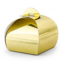 Set 10 cutiute aurii 6 cm, pliabile