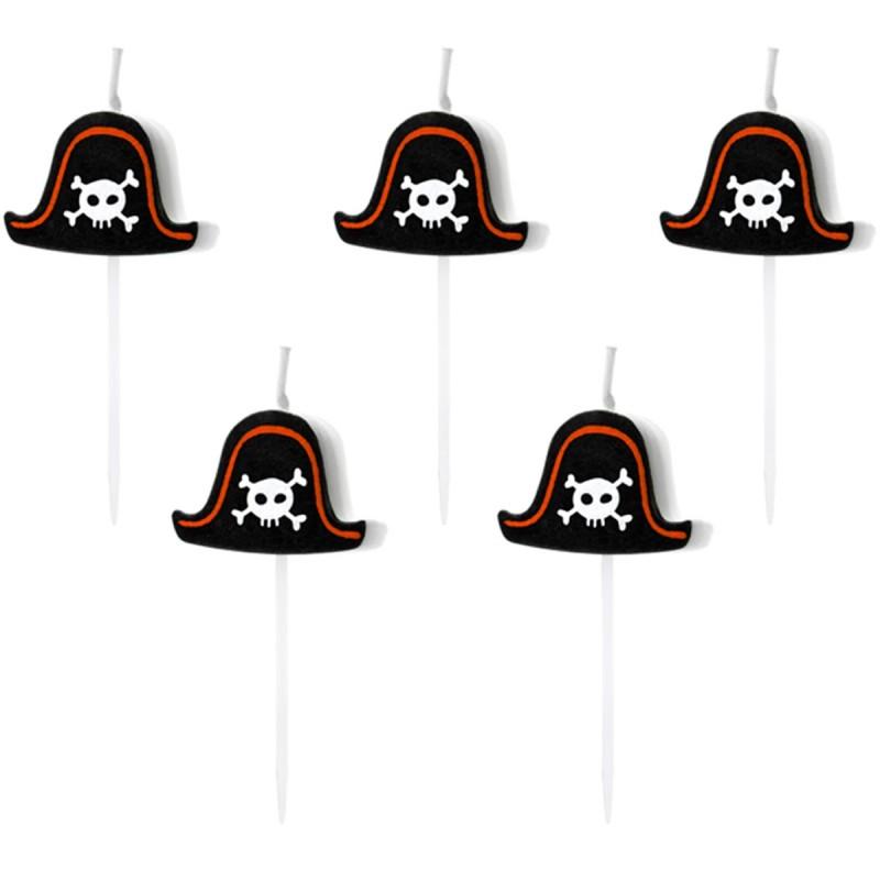 Set 5 lumanari Pirates Party