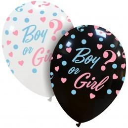 Set 10 baloane Girl or Boy ? Albe Gender Reveal