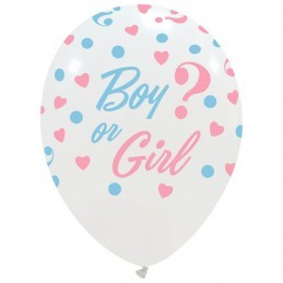 Set 10 baloane Girl or Boy ? Albe Gender Reveal