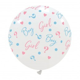 Balon Jumbo Girl or Boy ? Alb Gender Reveal