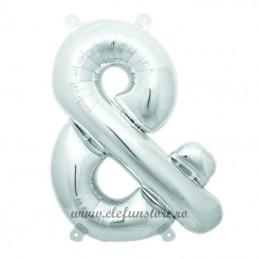 "Balon "" & ""  Argintiu 40 cm"