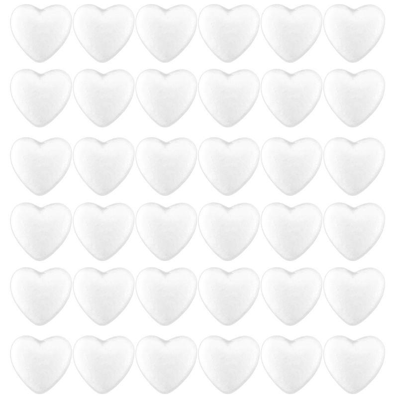 Set 35 inimioare din polistiren albe 4cm
