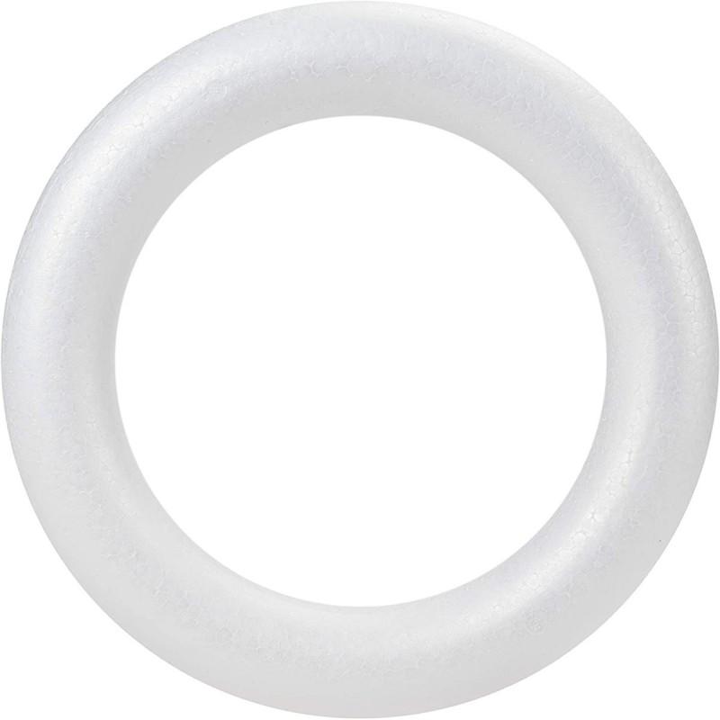 Set 4 inele din polistiren alb 20cm