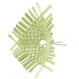 Suport impletit verde pt buchet 35 cm