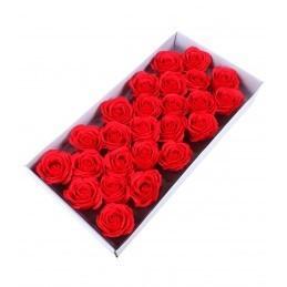 Set 25 Trandafiri de Sapun Rosu